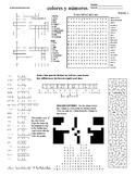 Spanish Puzzle Sheet, Substitute plans, colores y números