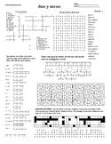 Spanish Puzzle Sheet, Substitute plans, días y meses