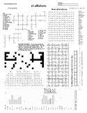 Spanish Puzzle Sheet, Substitute plans, el alfabeto