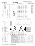 Spanish Puzzle Sheet, Substitute plans, el fútbol
