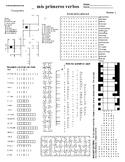 Spanish Puzzle Sheet, Substitute plans, mis primeros verbos