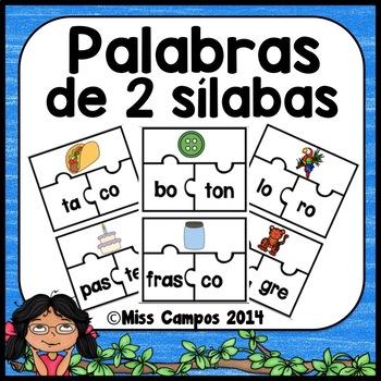 Rompecabezas para Palabras de 2 Silabas