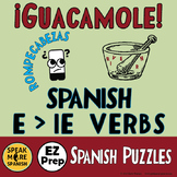 Spanish Puzzles & Games for Present Tense Stem Changing Verbs E > IE.  Juegos