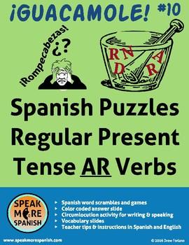 Spanish Puzzles * Regular Present AR Verbs *Verbos regular