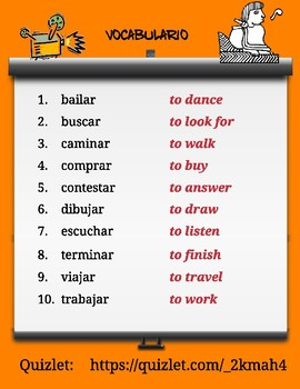 "Spanish Puzzles for Regular Present Tense ""AR"" Verbs. Verbos Regulares con ""AR"""