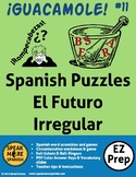 Irregular Spanish Future Tense Verbs Puzzles. Verbos Irregulares del Futuro