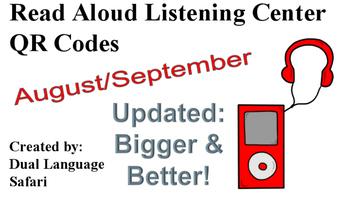Spanish QR Code Read Aloud Listening Center August & September