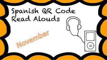 Spanish QR Code Read Aloud Listening Center November