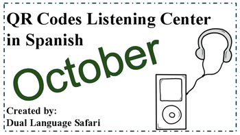 Spanish QR Code Read Aloud Listening Center October