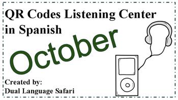 Spanish QR Code Read Aloud Listening Center October