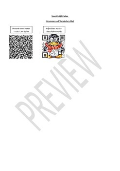Spanish QR Codes Mat Preview