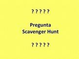 Spanish QUESTION WORDS scavenger hunt
