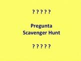 Spanish QUESTION WORDS scavenger hunt