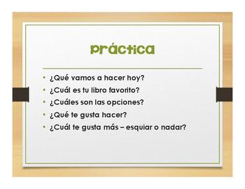 Spanish Qué Vs Cuál Notes