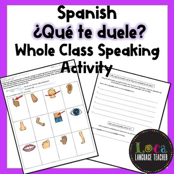 Spanish Qué te duele Class Activity
