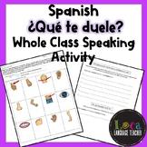 Spanish Qué te duele Class Activity
