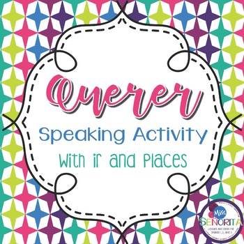 Spanish Querer with Ir and Places Speaking Activity