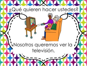 Spanish Querer with Verbs Powerpoint