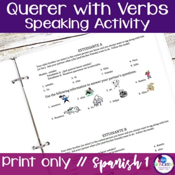 Spanish Querer with Verbs Speaking Activity
