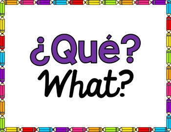 Spanish Question Posters