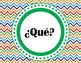 Spanish Question Posters, Word Wall, Reference