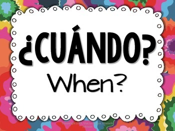 Spanish Question Word Posters - Fiesta Mexicana