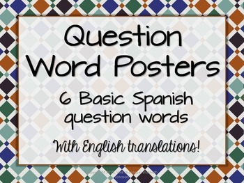 Spanish Question Word Posters - Granada Espana Tile