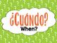 Spanish Question Word Printable Posters - Palabras Interrogativas