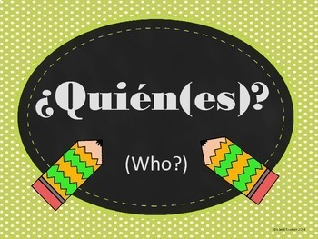 Spanish Question Word Wall Posters