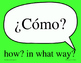 Spanish Question Word signs word wall - Great for Comprehensible Input