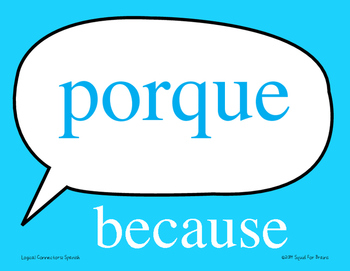 Spanish Logic Word signs word wall - Great for Comprehensible Input