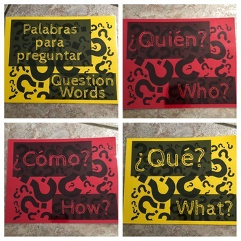 Spanish Question Words Classroom Posters
