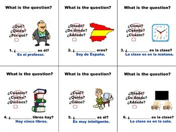 Spanish Question Words Flashcards_Basic