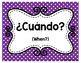 Spanish Question Words Freebie