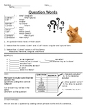 Spanish Question Words Guided Notes Handout