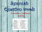 Spanish Question Words Interactive Activity