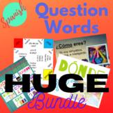 Spanish Interrogatives Question Words Activities Bundle 72 pages