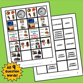 Spanish Question Words Flashcards Interrogatives Interactive Notebook Flashcards