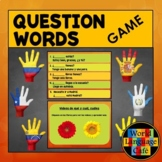 Spanish Question Words, Interrogatives Game, Including Qué