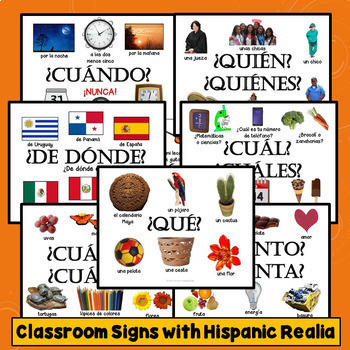 Spanish Question Words Lesson Plans, Practice, Games, Signs, Quizzes, Songs