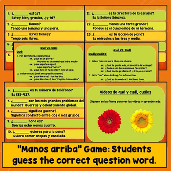 Spanish Question Words, Practice, Games, Signs, Quizzes ...