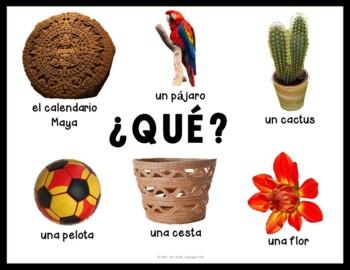 Spanish Question Words, Interrogatives, Interrogativos, Signs, Posters