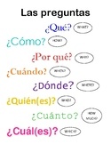 Spanish Question Words Poster