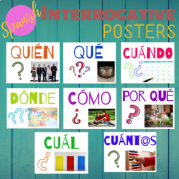 Spanish Interrogatives Posters Question Words Interrogativos