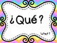 Spanish Question Words Posters (Rainbow Themed)