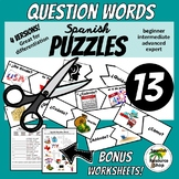 Spanish Question Words Puzzles