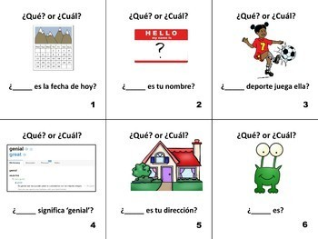 Spanish Question Words Que vs. Cual Flashcards