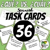 Spanish Question Words Que vs. Cual Task Cards