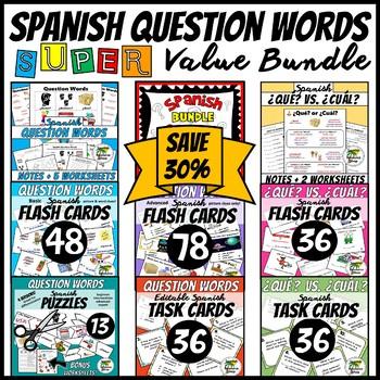 Spanish Question Words Super Value Bundle