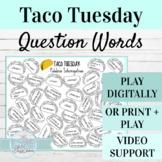 Spanish Question Words Activity | Digital or Print Taco Tu